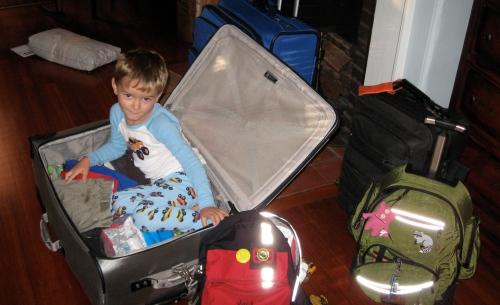J suitcases